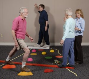 Fall prevention balance training